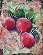 Healthy Eating Paintings - Radishes by Sheila Diemert
