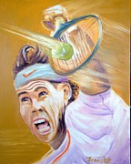 Tennis Painting Originals - Rafa being Rafa by David Francke