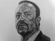 Rafa Drawings - Rafa Benitez by Sean Leonard