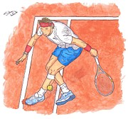 Slam Framed Prints - Rafa On Clay Framed Print by Steven White