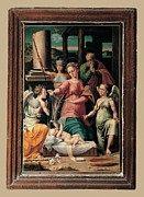 Nativity Framed Prints - Raffaellino Del Colle, The Madonna Framed Print by Everett