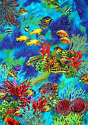 Swimming Tapestries - Textiles - Raffle Reef by Jean Baardsen