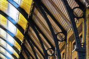 Metalwork Framed Prints - Rafters at London Kings Cross Framed Print by Christi Kraft