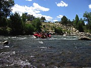 Bi-cycle Photos - Rafting the River by Steven Parker