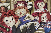 Stitched Framed Prints - Raggedy Ann and Andy Framed Print by Heather Applegate