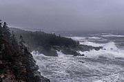 Storm Photographs Posters - Raging Fury at Quoddy Poster by Marty Saccone