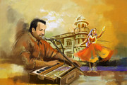 Dancer Art Framed Prints - Rahat Fateh Ali Khan Framed Print by Catf