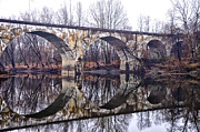 Schuylkill Prints - Rail Road Bridge at Phoenixville and Mont Clare Print by Bill Cannon