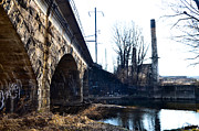 Rail Road Bridge Over The Brandywine Creek Downingtown Pa Print by Bill Cannon