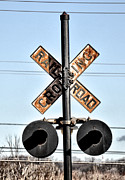 Caboose Digital Art Prints - Rail Road Crossing Print by Bill Cannon