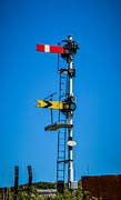 Traffic Control Photo Posters - Rail Signals Stop or Go Poster by Richard Jemmett