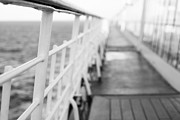 Boat Cruise Photo Prints - Railings Print by Anne Gilbert