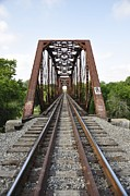 Angela Castillo Prints - Railroad Bridge Print by Cherie Haines