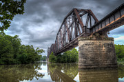 Arkansas Framed Prints - Railroad Bridge Framed Print by James Barber