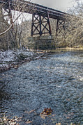 Zug Photos - Railroad Bridge Over Little Darby Creek 02 by J M L Patty