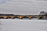 Freeze Framed Prints - Railroad Bridge over the Schuylkill River Framed Print by Bill Cannon