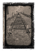 Industrial Background Framed Prints - Railroad BW Framed Print by Rudy Umans