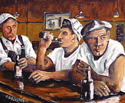Richard T Pranke - Railroad Men at the Bar...