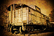 Caboose Framed Prints - Railroad Relic Framed Print by Irma Mason
