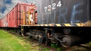 Boxcar Photos - Railroad Retirement by Ron Day