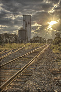 Grain Mill Posters - Railroad Sunrise Poster by Jason Politte