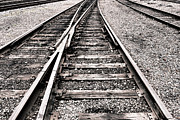 Ties Photos - Railroad Switch by Olivier Le Queinec