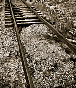 Railroad Spikes Art - Railroad Track Washout 2 by Greg Jackson