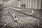 Industrial Background Framed Prints - Railroad tracks BW Framed Print by Rudy Umans