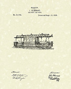 Railroad Drawings - Railway Body 1891 Patent Art by Prior Art Design