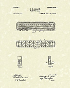 Rail Drawings - Railway Car 1894 Patent Art by Prior Art Design