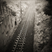 Railroad Line Prints - Railway Print by Les Cunliffe