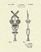 Crossing Drawings Posters - Railway Signal 1936 Patent Art Poster by Prior Art Design
