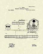 Signals Posters - Railway Signals 1874 Patent Art Poster by Prior Art Design