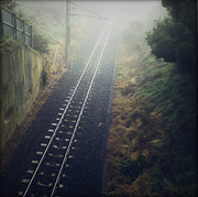 Railway Photos - Railway tracks by Les Cunliffe