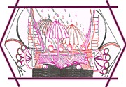 Sterling Drawings - Rain Drops by Becky Sterling