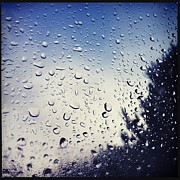 Hipstamatic Framed Prints - Rain Drops on a Window Pane I Framed Print by Marco Oliveira
