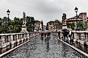 Francesco Zappala Metal Prints - Rain in Rome Metal Print by Francesco Zappala