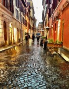 Rainy Day Mixed Media - rain in Rome... by Lauri Serene