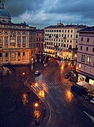 Rain Night In Rome Print by Patrick Horgan