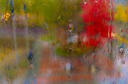 Rain On Glass Print by Susan Stone
