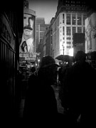 At Work Prints - Rain on Seventh Avenue - Umbrella Jungle Print by Miriam Danar