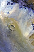 Earth Tone Painting Originals - Rain on the Moon by Jill Lorraine