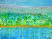 Regina Valluzzi - Rain  original contemporary acrylic painting on canvas