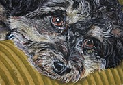 Brown Dogs Pastels - Rain rain go away by Linda Eversole