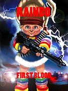 Rainbo First Blood Print by Tim Myers