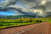 Storm Prints Photo Prints - Rainbow after the storm Print by John McArthur