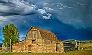Barn Storm Prints - Rainbow Barn Print by Diane Loos