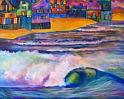 Outer Banks Paintings - Rainbow Barrel by Carolina Coto