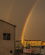 Philipp Polischuk - Rainbow behind the house