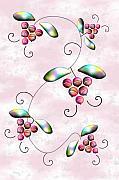 Rainbow Berries Print by Anastasiya Malakhova